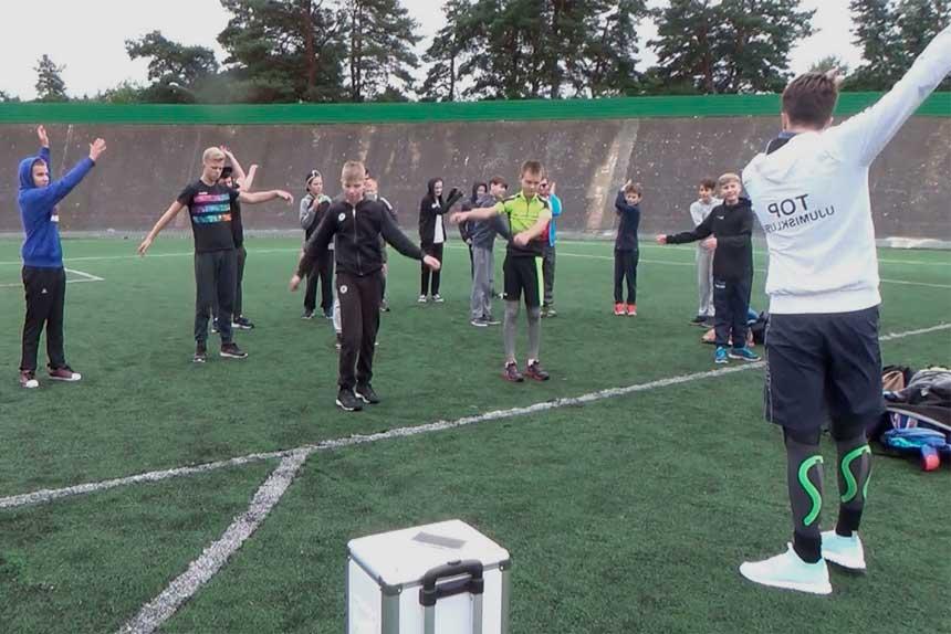Спортивный день в частной гимназии Sakala Eraguümnaasium